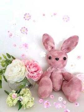 ぬいぐるみ☆大きなうさちゃん☆春ピンクベロア