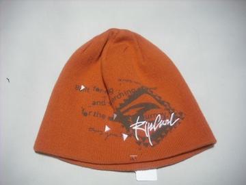 rc75 男 RIP CURL リップカール ニット帽 ビーニー 橙