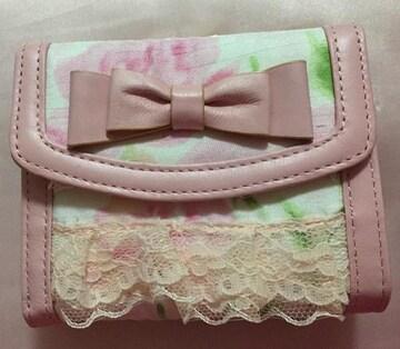 ディアマンテ☆ぼかし薔薇柄☆折りたたみ財布
