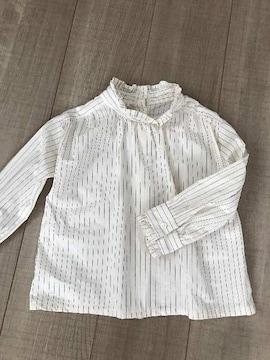 韓国子供服SHURRCCA 5美品めちゃかわ長袖ストライプシャツ女の子