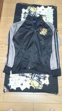 ドラゴン刺繍ラグランジャージ�萄リームソーダロカビリー龍