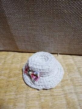 コットンヤーンで編んだ麦わら帽子3