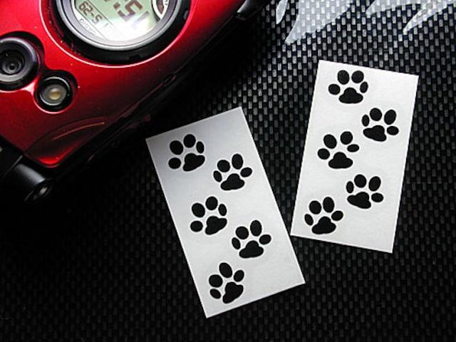 あしあと/ステッカー(黒/小2)猫、犬、肉球  < 家電/AVの