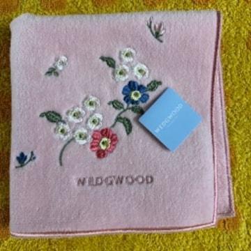 ウエッジウッド タオルハンカチp小花刺繍
