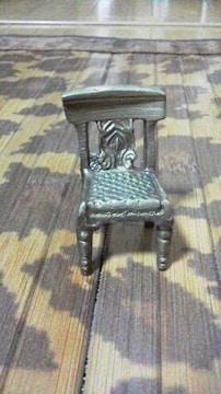 真鍮製★ミニチュア♪椅子の置物☆