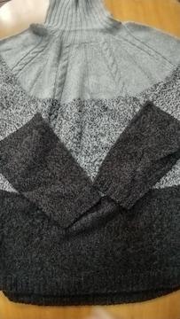 ハイネック◆グラデーションのセーター◆Msize