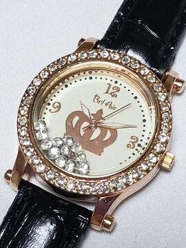 ★送料無料★新品★腕時計★クリーム★ラインストーン★一点!