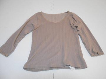 衣類 レディース Mサイズ 七分袖シャツ 冬用 ブラウン