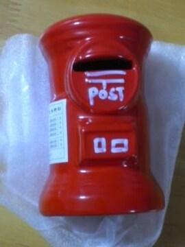 値下 懐かしい レトロな赤い丸型ポストの貯金箱 新品 インスタ映OK 非売品