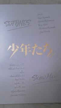 必見舞台『少年たち.To.be!』19限定パンフレットSixTONES・SnowMan