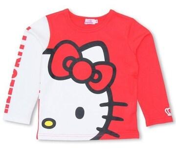 新品BABYDOLL☆120 ハローキティ フェイス ロンT  Tシャツ ベビードール