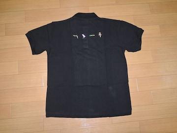 新品DARWISH鹿の子ポロシャツM黒エジプト象形文字刺繍