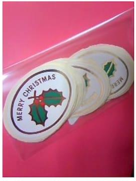 クリスマス 金箔押し風 包装シール 20枚