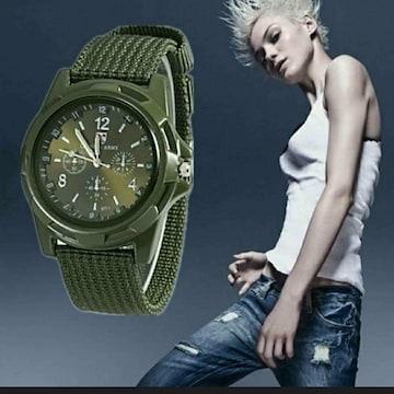 新品 未使用 army 戦争 腕時計 緑