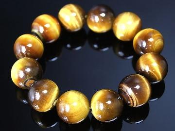 20mm■虎目石数珠ブレスレット/ヤクザオラオラ悪羅悪羅