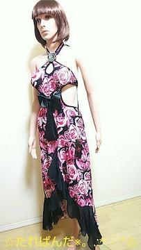 新品タグ付☆BRAVERY ROSE大胆大薔薇SexyドレスD106☆3点で即落