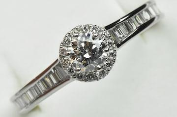 最高 ダイヤモンド 0.326ct 【鑑別】ダイヤモンドリング 15号