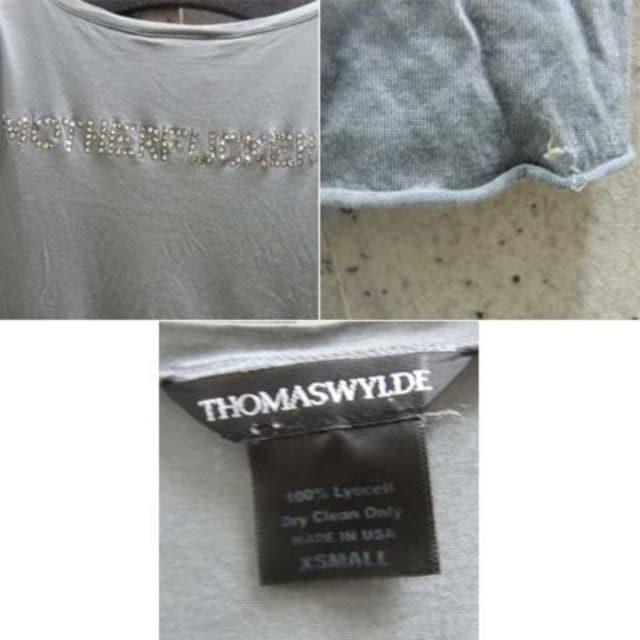 トーマスワイルド スワロフスキーTシャツ < 女性ファッションの