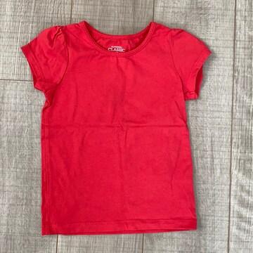 美品シンプル女の子Tシャツ半袖CLASSIC95綺麗な赤