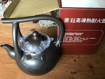 訳有。茶器 中国アジア製 巨大唐朝陶器急須 新品未使用