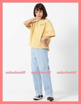 ミルクフェド☆超美品完売サイドロゴサイドスリットゆるTシャツ