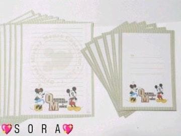 ディズニー【ミッキー&ミニー】可愛い♪封筒&便せん レターセット