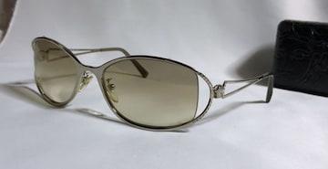 正規美レア ヴェルサーチVERSACE メデューサロゴ×ライトストーン装飾メタルフレームサングラス