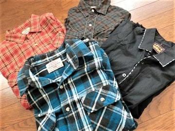 リーバイス レア シャツ 4枚組 アラスカ プレミアム オレンジ レッド タブ 90年代