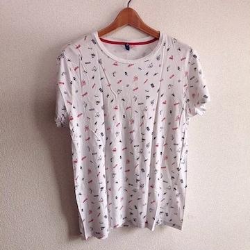 ◆H&M/エイチ&エム◆アメリカン柄半袖Tシャツ★メンズS*春コーデ♪