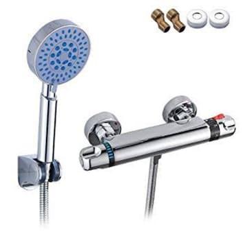 tropical 浴室用水栓 シャワー付き シャワーヘッドセット サーモ