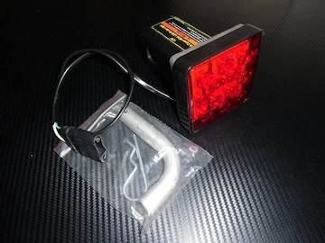 12v/赤色LED付ヒッチカバー/角型2インチ/スモールorブレーキ連動