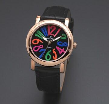 アモーレドルチェ レディース腕時計AD18303-PGBKCL