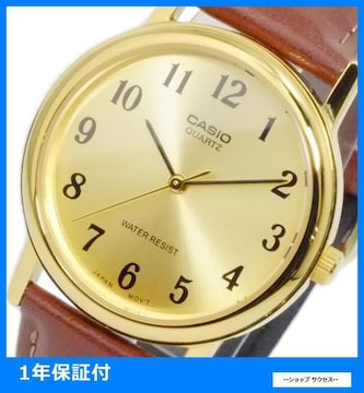 新品 即買い■カシオ メンズ 腕時計 MTP-1095Q-9B1 ゴールド
