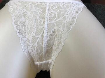 white透けレースパンティー