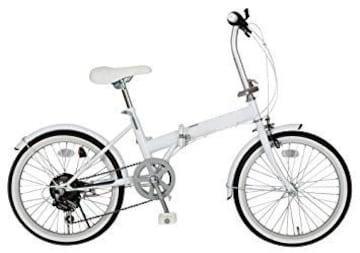 シマノ製6段ギア搭載 折りたたみ自転車 20インチ