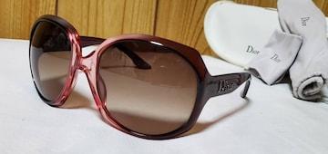 正規 浜崎あゆみ着 Dior グロッシー ロゴサングラス 茶×パープルグラデーション