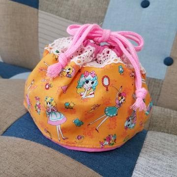 昭和レトロ女の子★お弁当袋