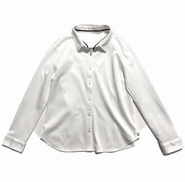 フェリシモIEDIT〓プレミアム素材極伸びカットソー白シャツ(L)新品〓