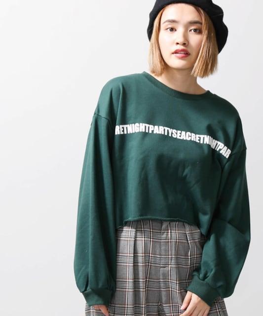 ☆WEGOロゴカットオフワイドスウェット☆新品GR  < 女性ファッションの