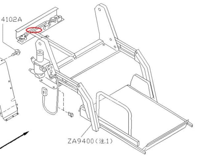 [美品]E24キャラバン・ホーミー チェアキャブ用 リフター部ハーネス < 自動車/バイク