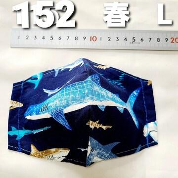 No.152 マスクカバー ゴム付き ゆうパケット送料 ¥180
