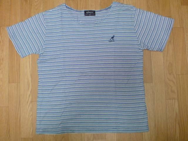 ☆KANGOLカンゴール 白水紺ボーダーTシャツ  < ブランドの