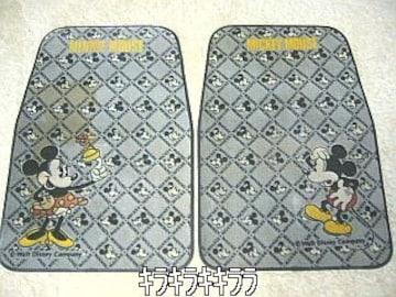 ミッキーマウス&ミニーマウスフロント用フロアーマット2枚組