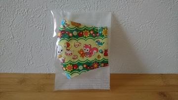 ハンドメイド レトロ柄マスク サイズM