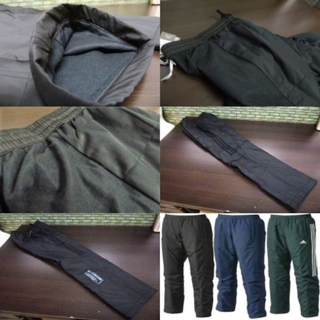 S 黒)アディダス ウィンドブレーカーパンツ DUQ94 中綿入りロングパンツ adidas < レジャー/スポーツの