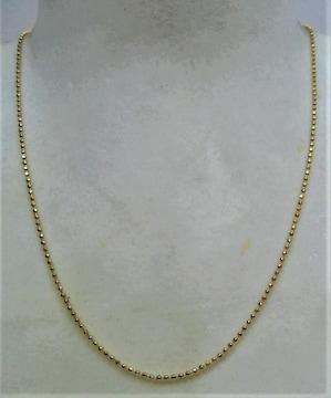 K18 18金 ミラーボール ネックレス 3.7g c