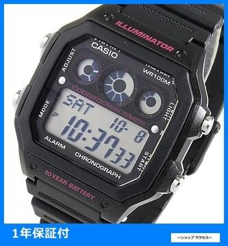 新品 即買い■カシオ メンズ 腕時計 AE-1300WH-1A2 ブラック