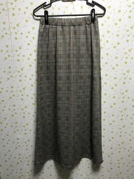 Mサイズ チェック柄 ロングスカート