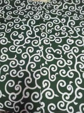 ☆新柄緑×白唐草模様大柄ダボシャツ3L