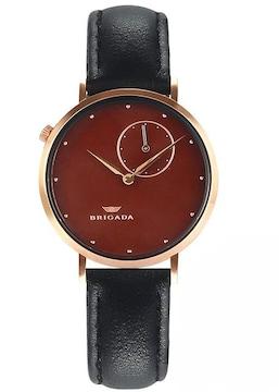 高級 薄い 時計 レディース 人気 茶黒